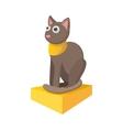 Egyptian cat icon cartoon style vector image