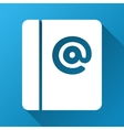 Emails Gradient Square Icon vector image