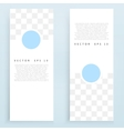 banners and circles vector image