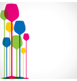 colorful wine glass vector image