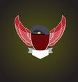 emblem military Shield wings vector image