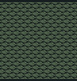 geometric mosaic pattern from green triangle vector image