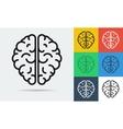 line icon of brain vector image