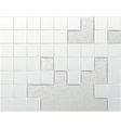 Wall of tiles - abstract background template vector image
