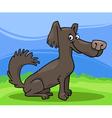 little shaggy dog cartoon vector image vector image