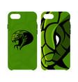 furious green snake head sport logo concept vector image