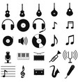music set black icon on white vector image
