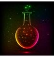 Shining rainbow bottle with magic lights vector image vector image