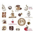 Coffee and Tea design elements vector image