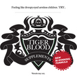 tiger blood vector image vector image