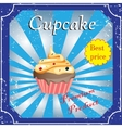 Cakes template poster vector image