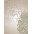 ornate floral vector image vector image