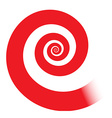 Red spiral vector