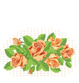 roses background fine vector image vector image