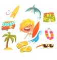 Boy Surfer Extreme Sportsman Kids Future Dream vector image
