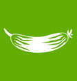 fresh cucumber icon green vector image
