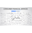 Sketch concept ConsumFinancialServices vector image