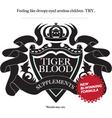 tiger blood vector image
