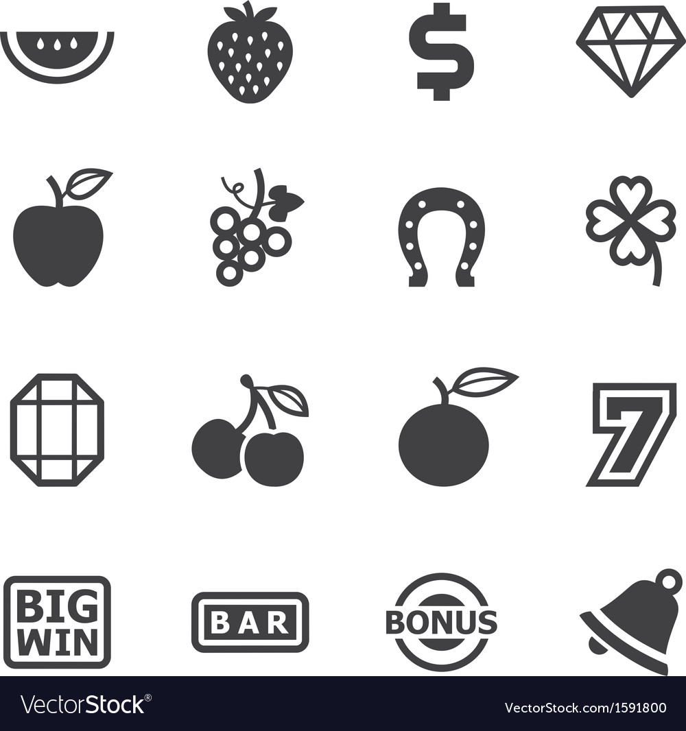 Slot machine icons vector