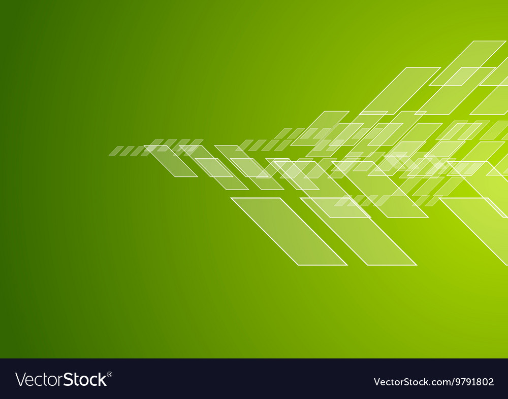 Abstract green technology corporate brochure vector