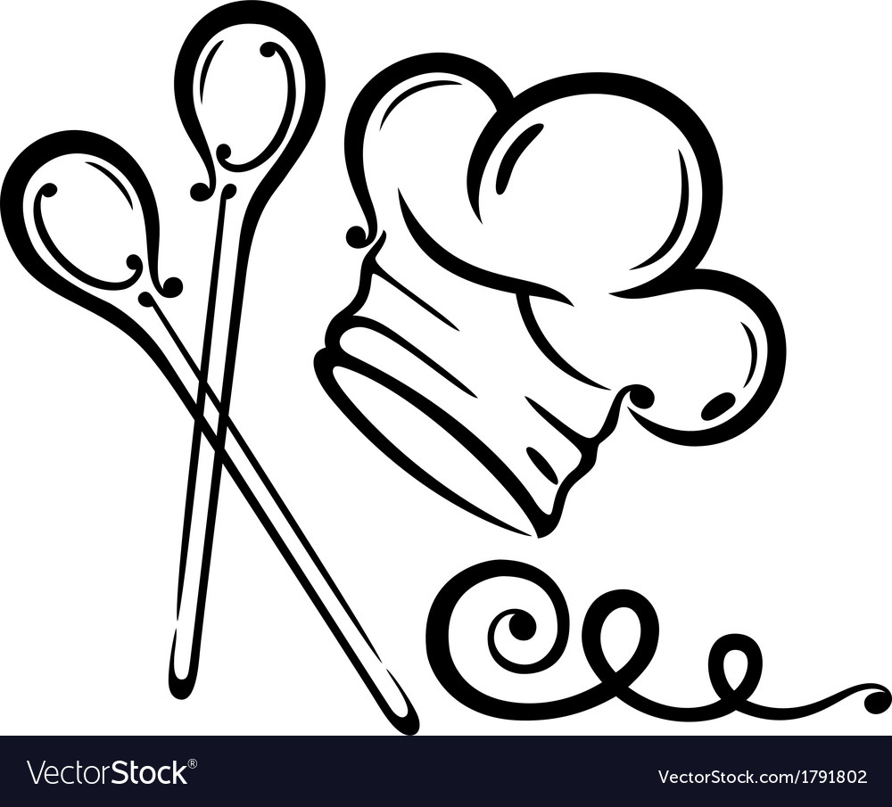 Chef hat cooking vector