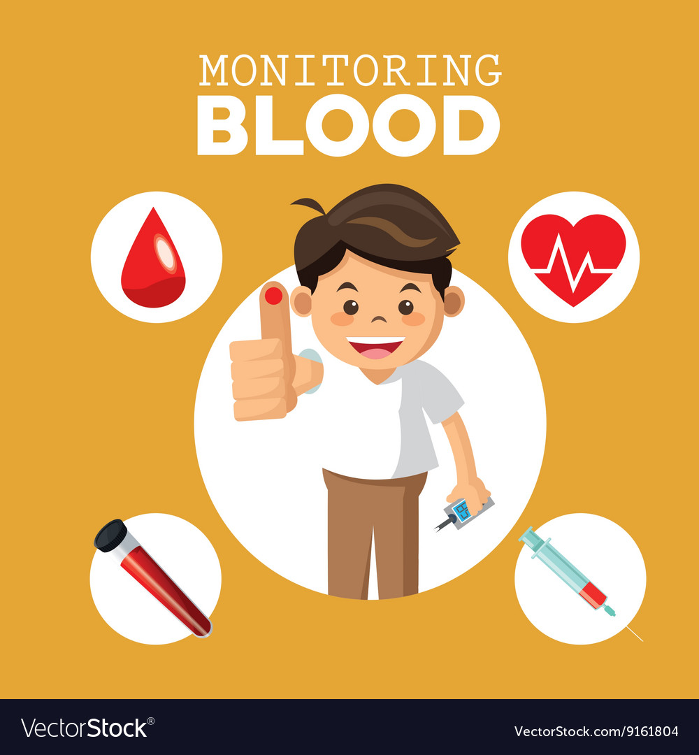 Monitoring blood design medical and healthcare vector