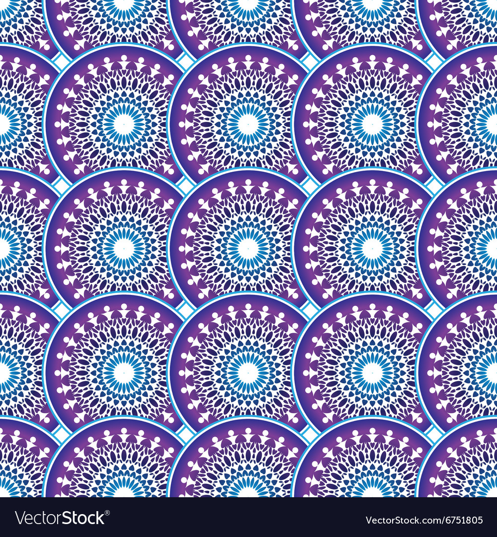 Vintage violetbluewhite seamless pattern vector