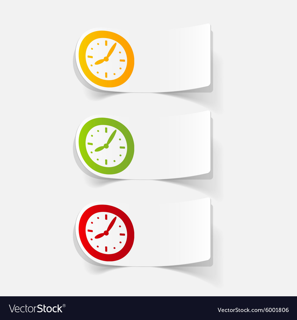 Realistic design element clock vector