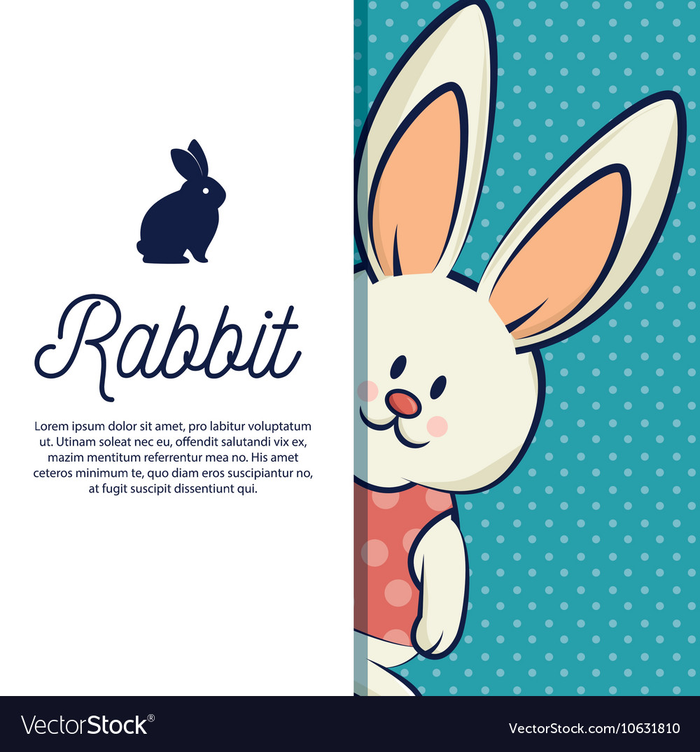 Cartoon icon rabbit design isolated vector