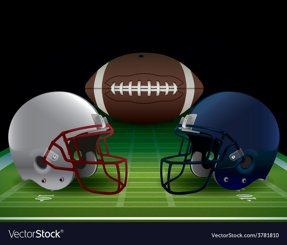 Football bowl game vector