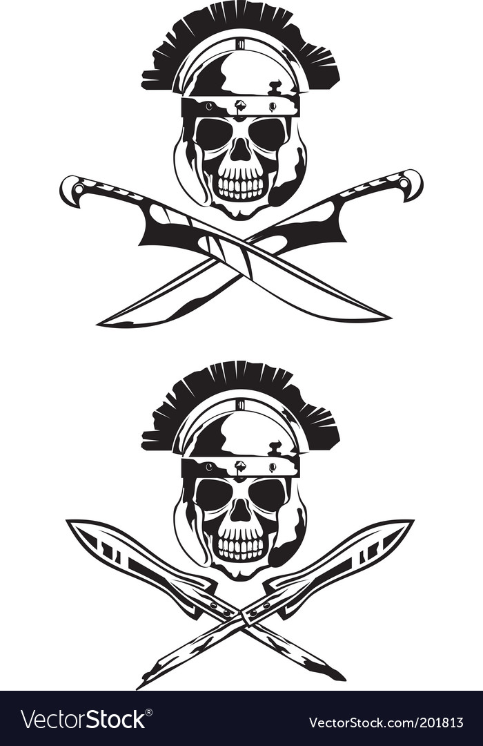 Symbol with skull vector