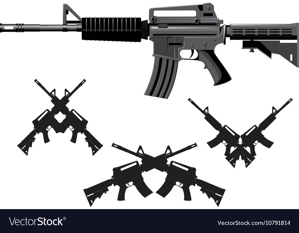 American assault gun vector