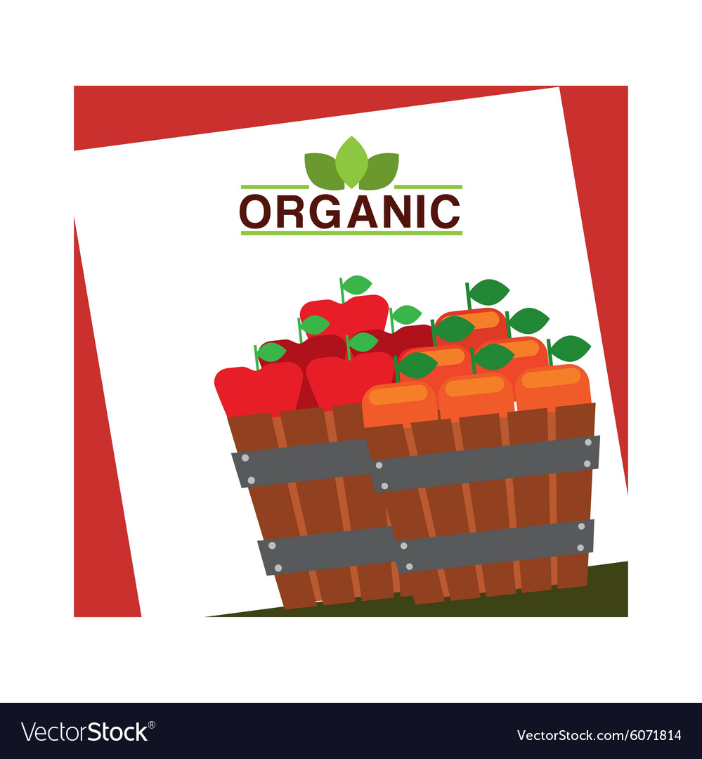 Fresh farm products vector