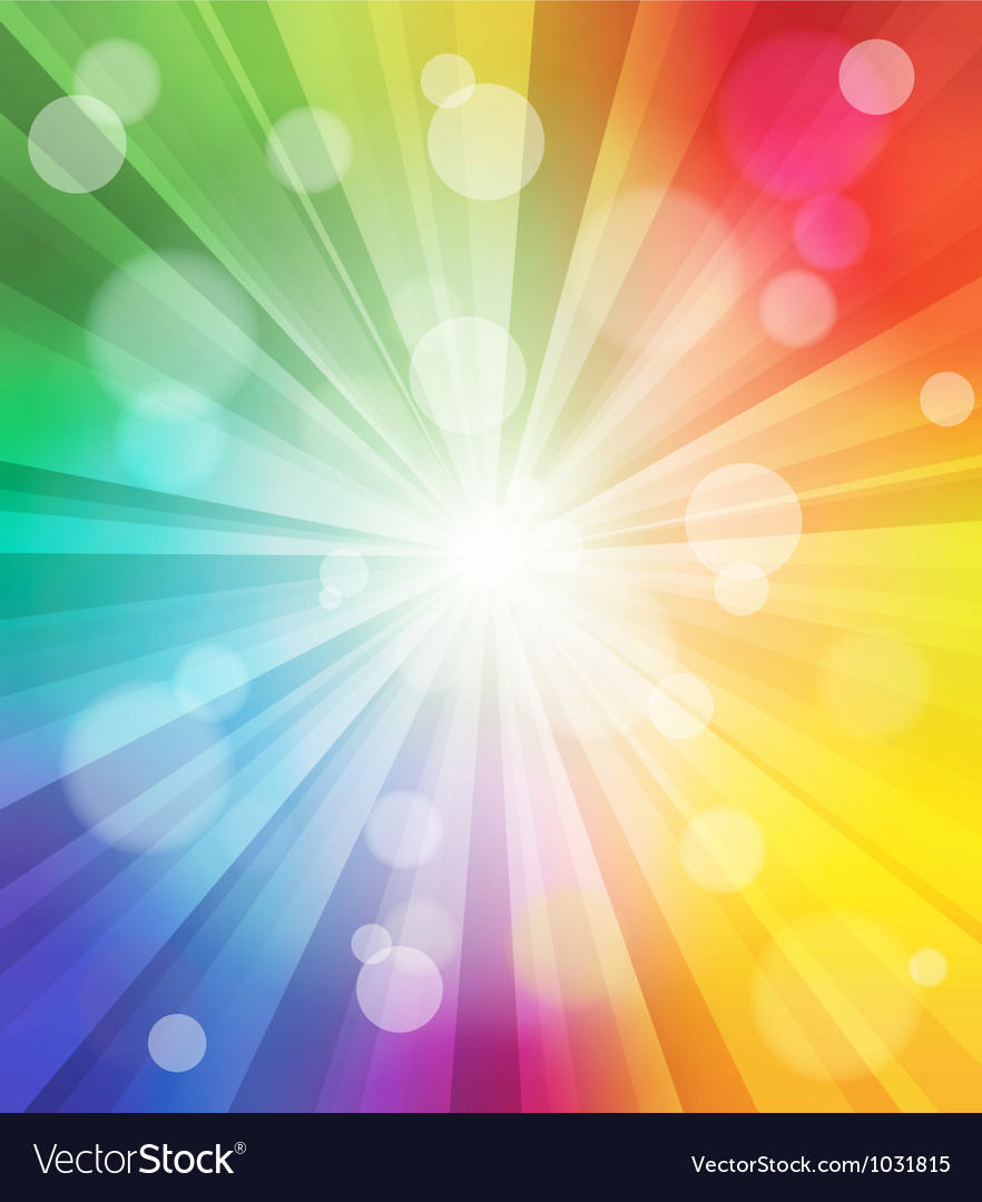 Colorful light effect background vector