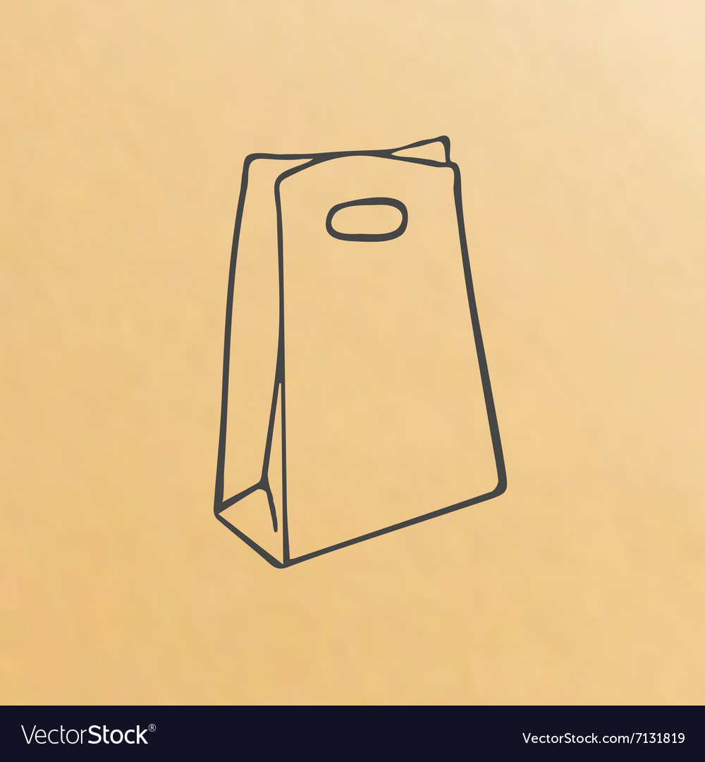 Cartoon of three brown paper bags vector