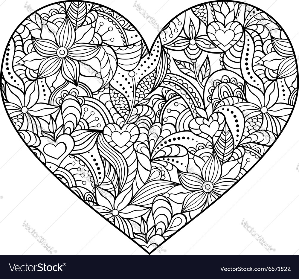 Abstract heart on white background vector