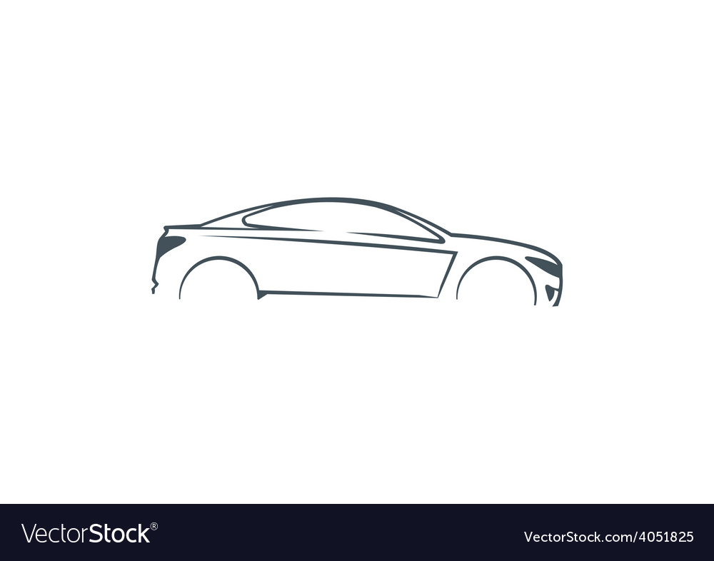 Car abstract automotive concept logo vector