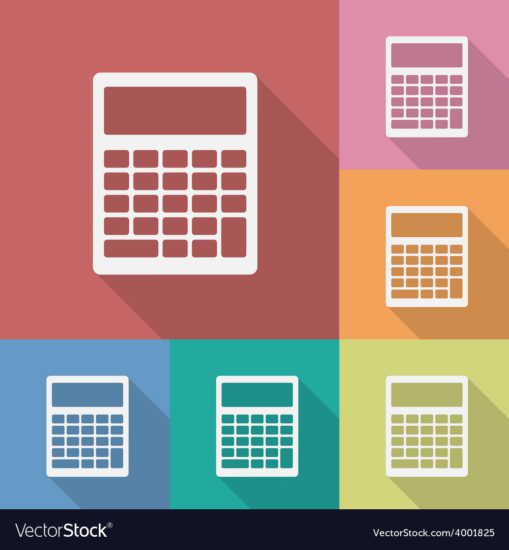 Icon of calculator vector