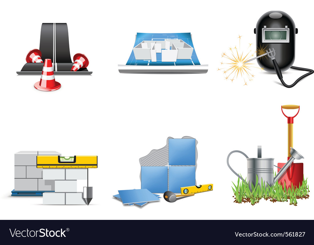 Renovation icons vector