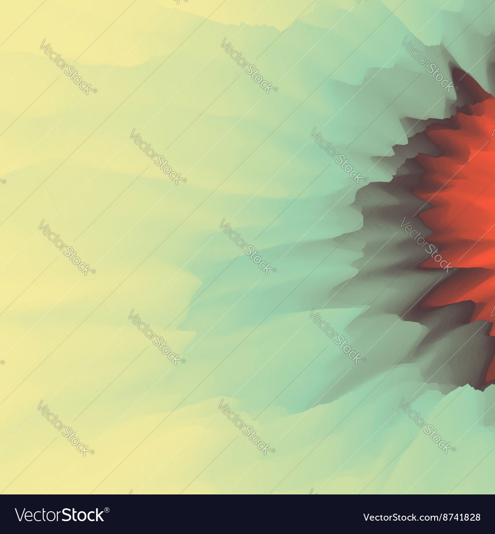Fire with smoke abstract background modern vector