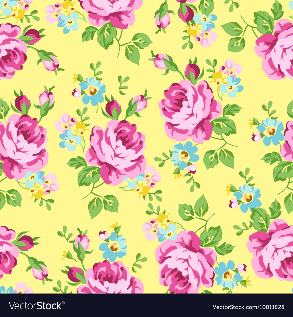 Seamless floral pattern with pink roses on a dark vector