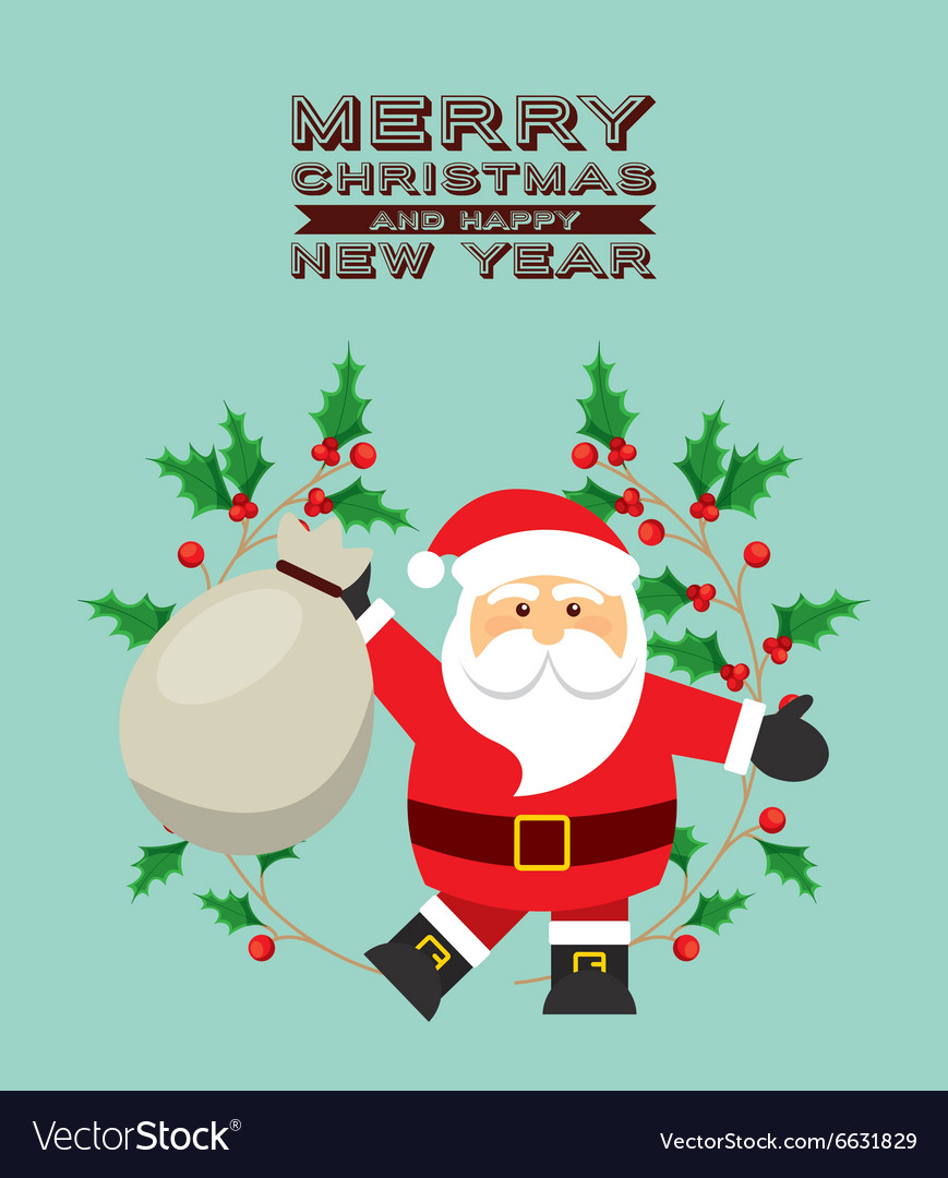 Happy merry christmas vector