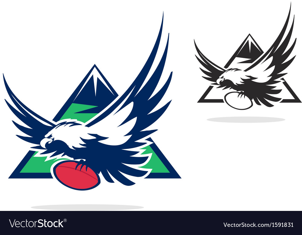 Eagle with ball vector