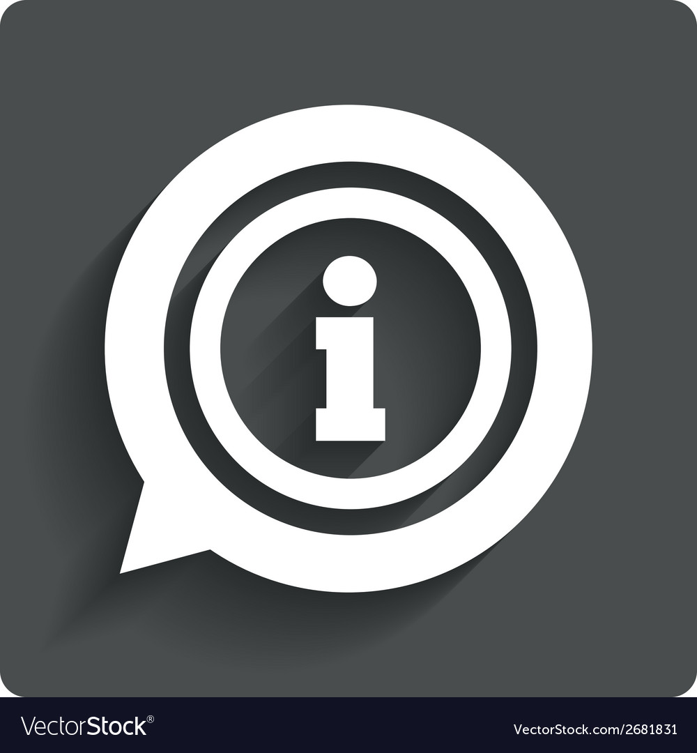 Information sign icon info symbol vector