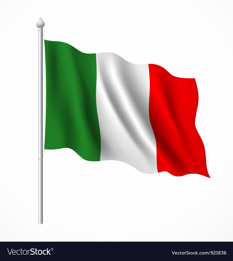 Flag of italian vector