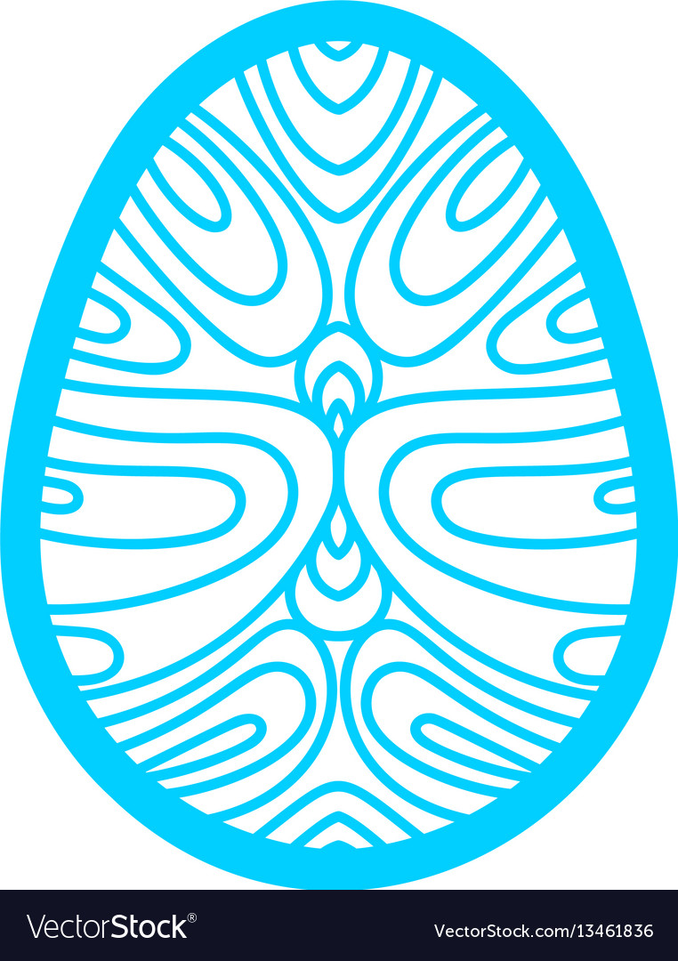 Happy easter laser cutting template for greeting vector