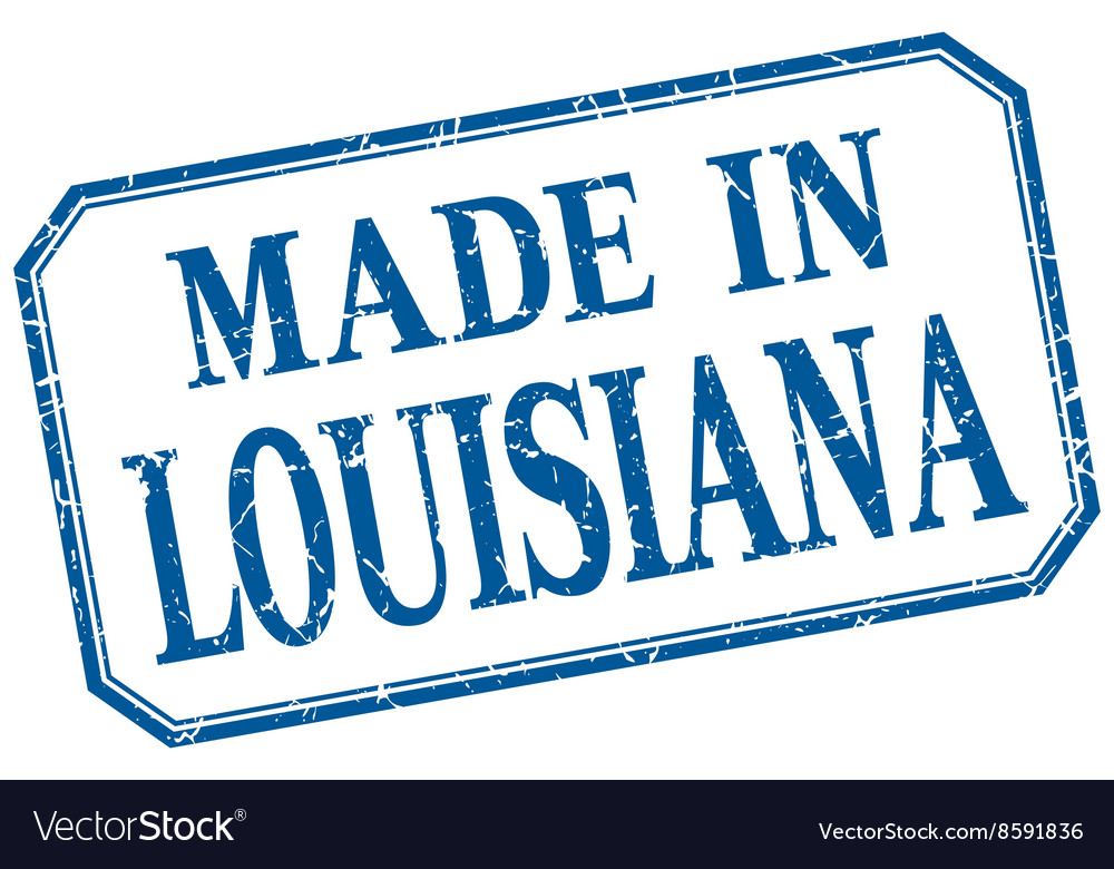 Louisiana  made in blue vintage isolated label vector