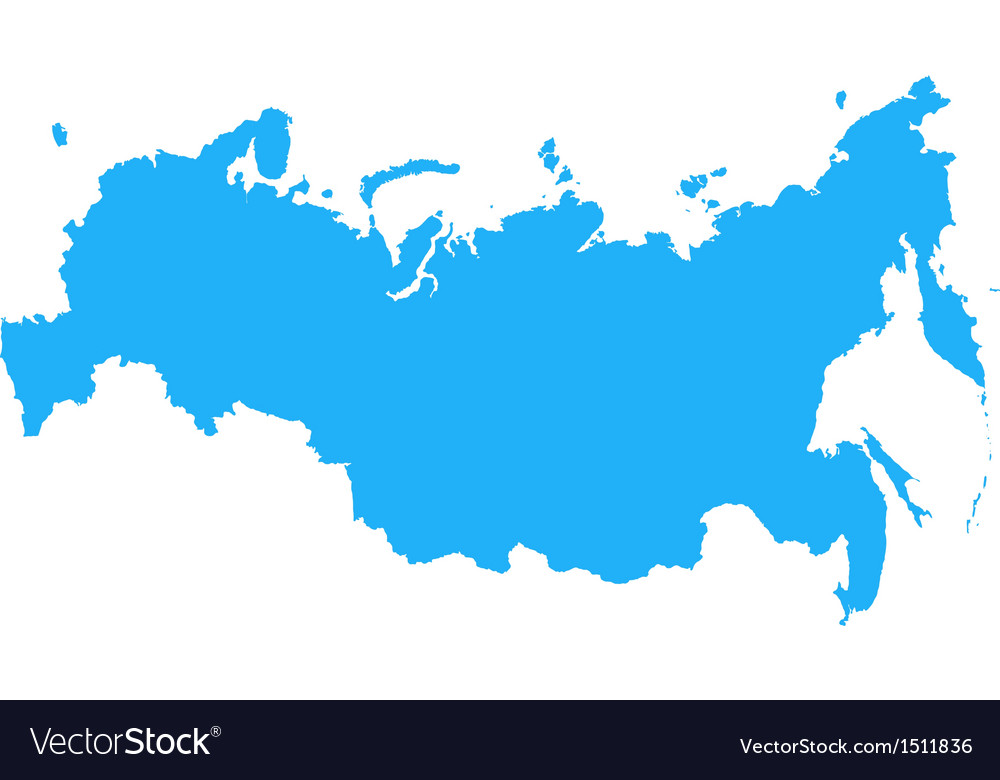 Russian federation map vector