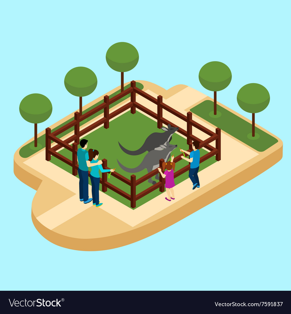 Zoo isometric vector