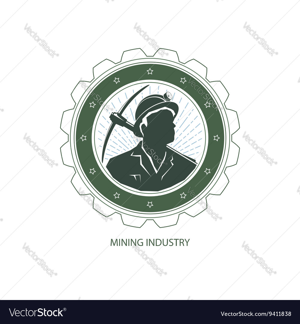 Mining industry design element vector